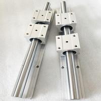 2 pcs SBR16 950mm  1000mm  1050mm linear guide and 4 pcs SBR16UU linear bearing blocks for CNC parts