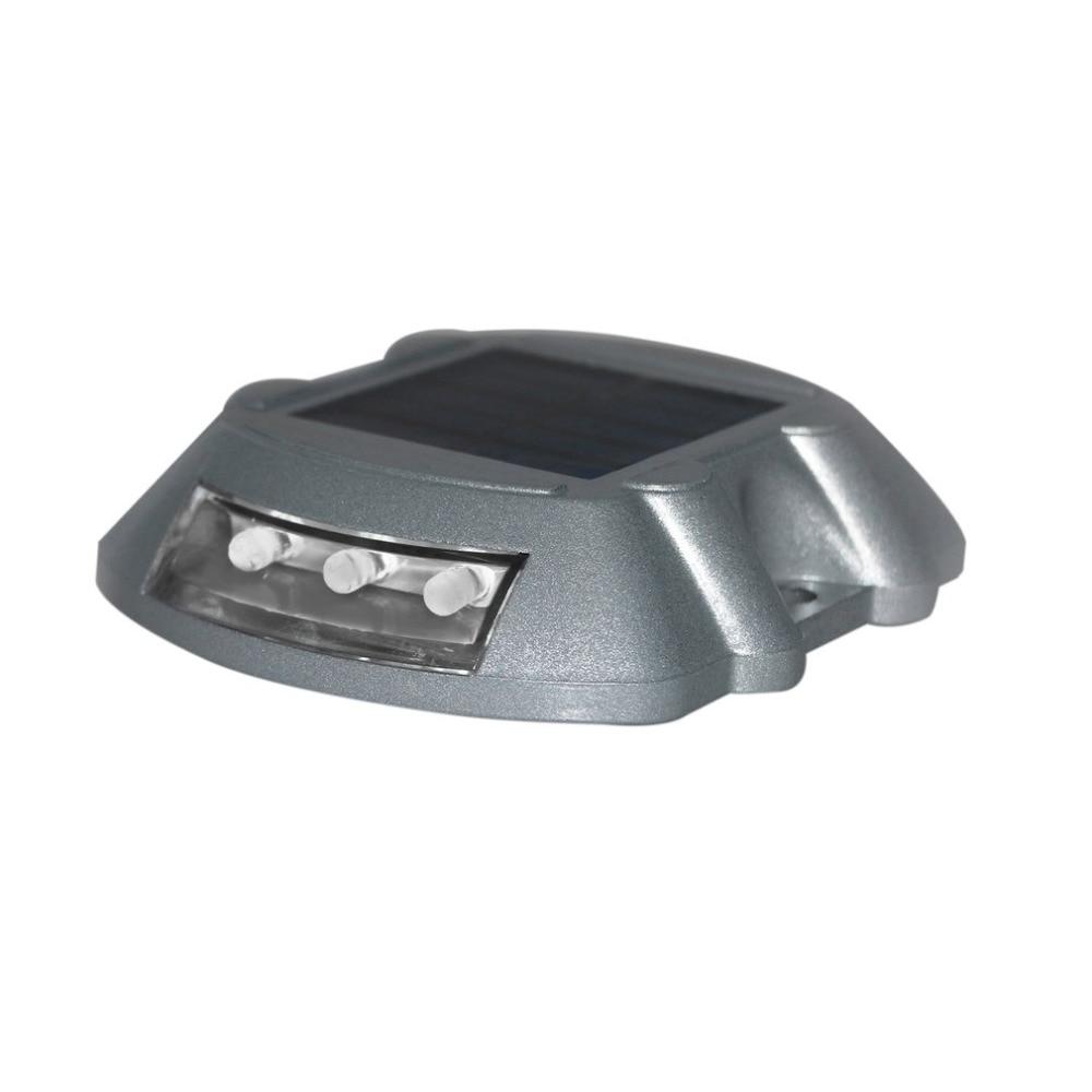4colors Waterproof Solar Power Road Stud Die-casting Aluminum Traffic Signal Light LED Light Solar Drive Lamp Outdoor Solar Lamp