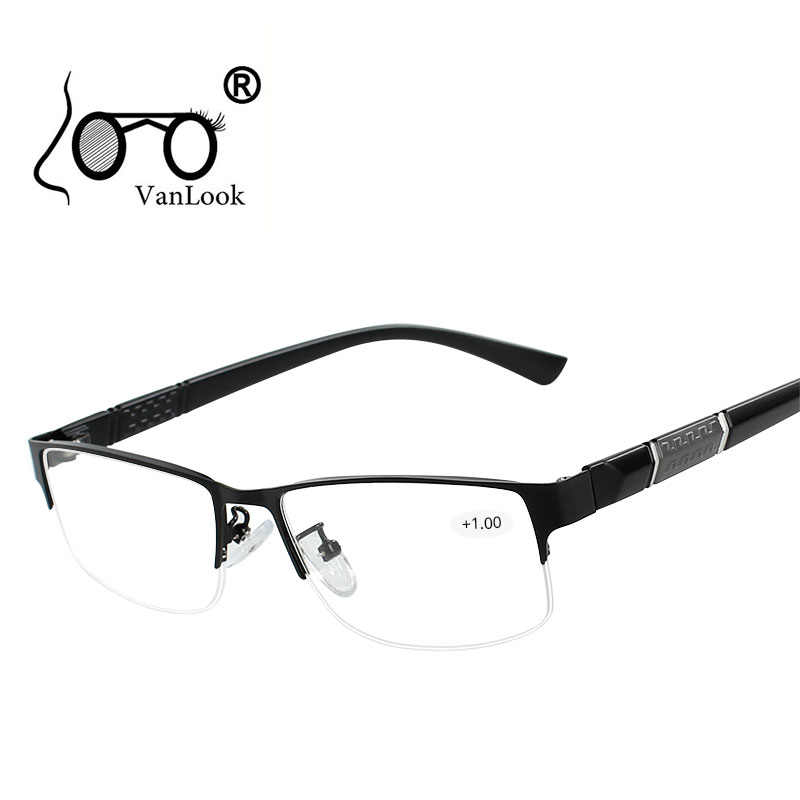 12d572bad0 Stainless Steel Reading Glasses with Diopters Men's Spectacles Gafas de  Lectura Farsighted Spectacle Frames for Women