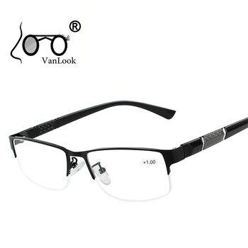 נירוסטה קריאת משקפיים עם דיופטריות גברים של משקפיים Gafas דה Lectura מרחיק ראות מסגרות עבור נשים גברים + 1 1.5