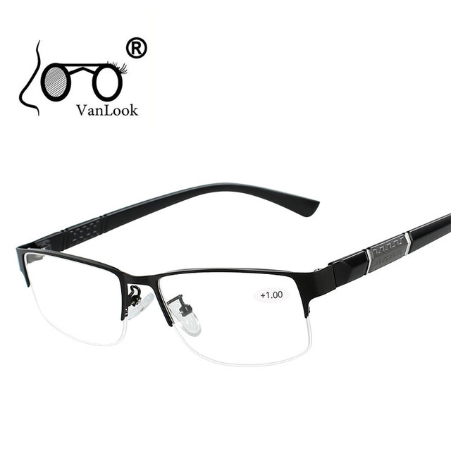 Stainless Steel Reading Glasses with Diopters Men's Spectacles Gafas de Lectura Farsighted Spectacle Frames for Women Men +1 1.5