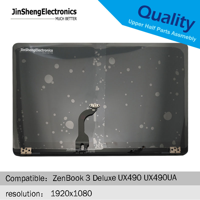 100% tested 14-inch LCD screen for ASUS ZenBook 3 Deluxe UX490UA UX490U UX490UAR notebook LCD display blue upper half replacemen100% tested 14-inch LCD screen for ASUS ZenBook 3 Deluxe UX490UA UX490U UX490UAR notebook LCD display blue upper half replacemen