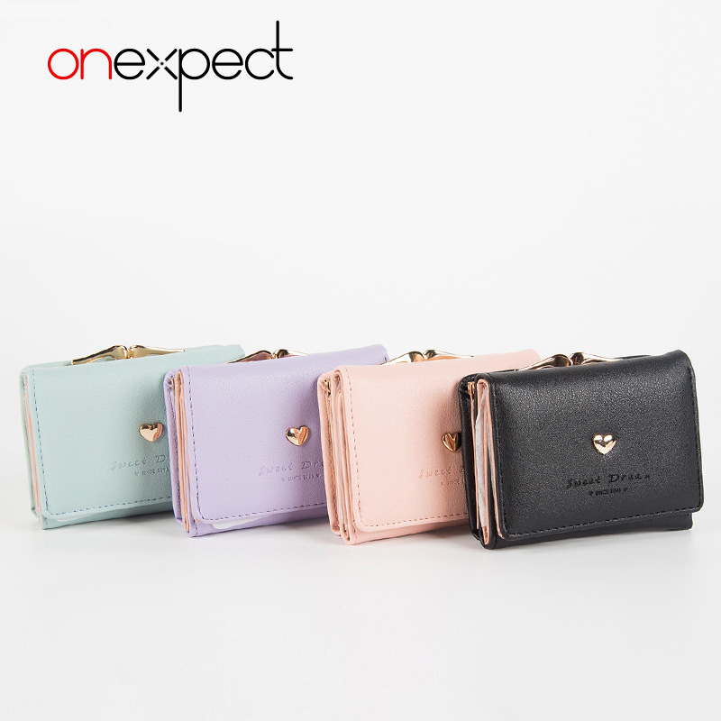 onexpect Mini Wallet Women Small Clutch Female Purse Coin Card Holder Bag Female Fashion Cardbag Short Money Wallets PU Leather