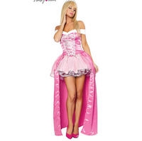 Free shipping hifg quality sleeping beauty princess aurora cosplay hot selling fashion fancy adult women costume halloween set