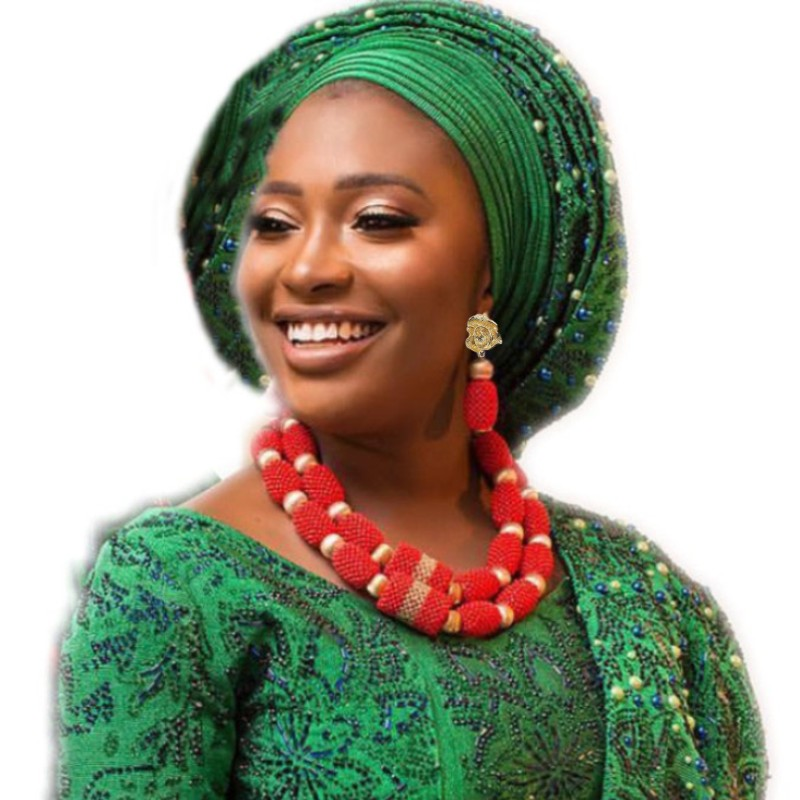 Dudo bijoux rouge et or grandes boules Costume collier ras du cou ensemble 2 couches Godki luxe femmes bijoux ensemble pour africain/nigérian