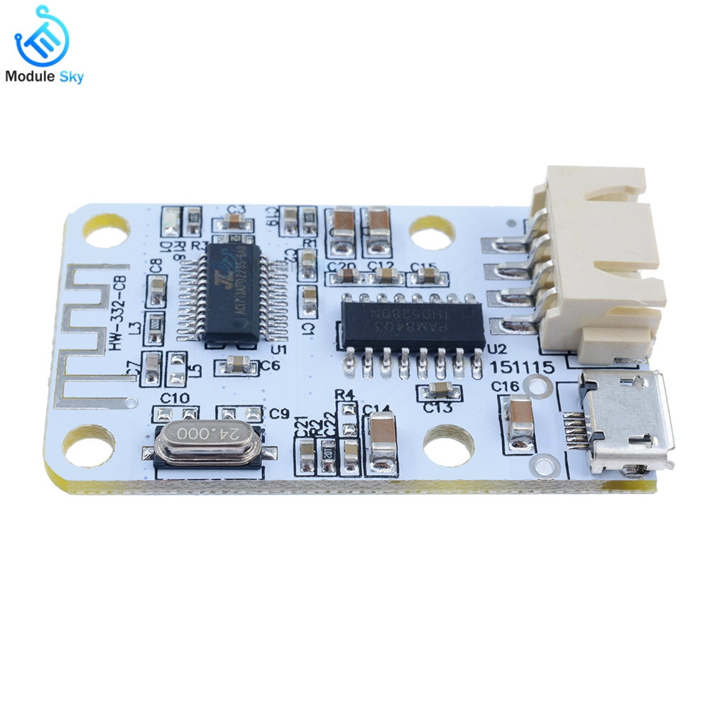 amplifier board Bluetooth 4 0 Audio Receiver Board Wireless Amplifier  Module kit For Speaker USB 3W*2 amplificador de potencia