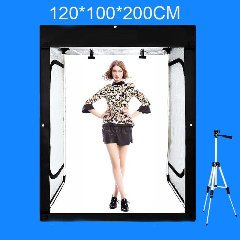 120*100*200CM Photo Studio Softbox Photography Lightbox Light box Shooting Light Tent With Free Gift +Portable Bag 50x130cm softbox reflector with bowens mount for studio flash photo studio soft box photography accesorios fotografia light box