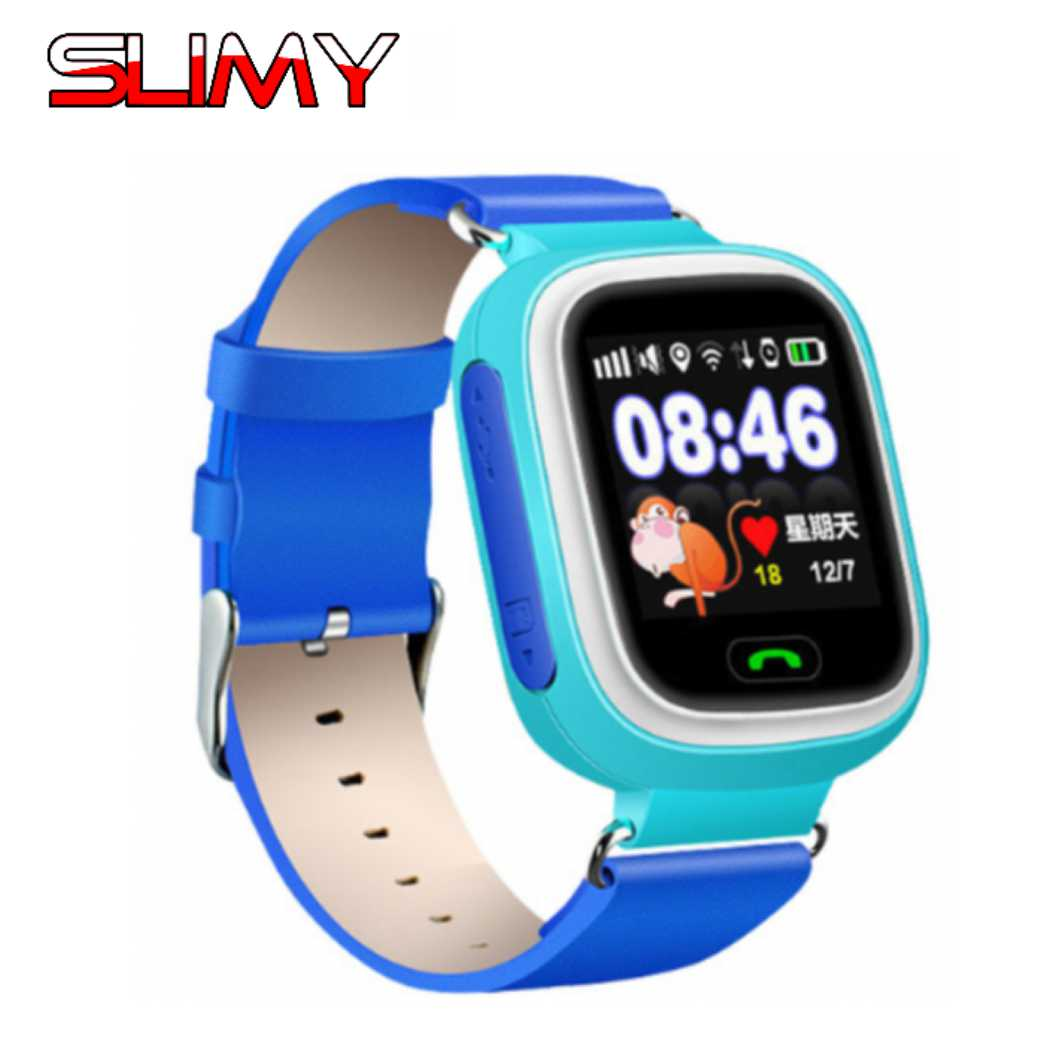 Visqueux GPS Tracker Montre Smart Watch pour Enfants Enfants Q90 SOS Téléphone Fitness Sommeil Podomètre Écran Tactile Smartwatch Intelligent Bébé Montre