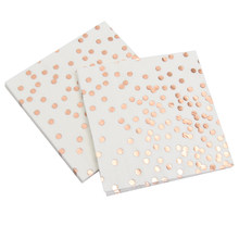 1 pack/set Rose Gold Dot Paper Napkin Party 100% Virgin Wood Paper Napkin For Wedding Baby Birthday Home Decoration Supplies(China)