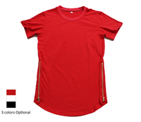 Best Version Mens Hip Hop Extended T Shirts Fashion 2016 TYGA T Shirt Men Side Zipper