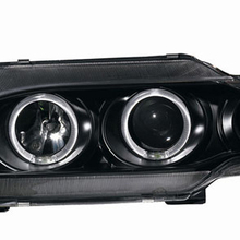 Парный автомобильный головной светильник в сборе для LADA 2115, тюнинг, головной светильник, части лампы, ангельские глазки, дневной ходовой светильник, би ксенон