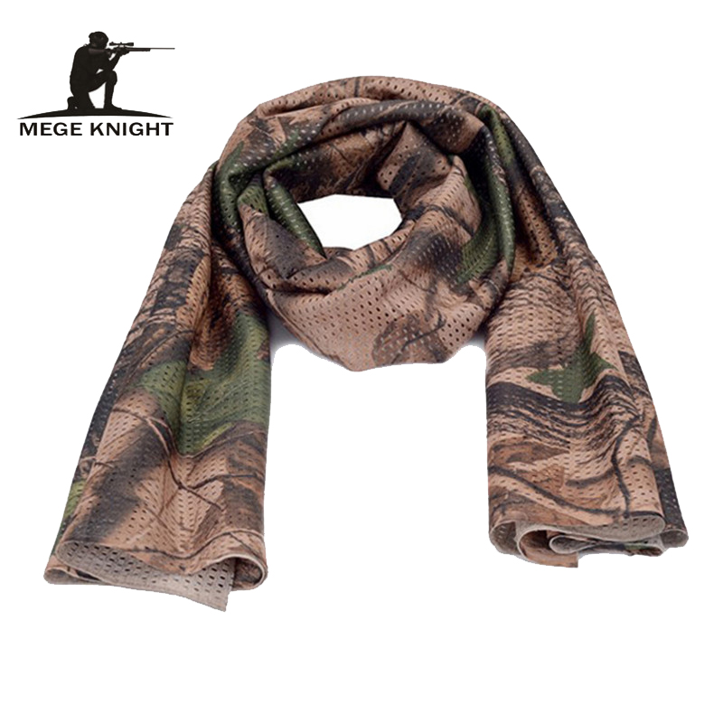 MEGE Unisex Camouflage   Scarf  , Tactical Multifunctional Army Mesh, Breathable Airsoft Paintball   Scarf  ,   Wrap   Mask Shemagh Veil