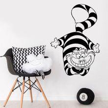 漫画アニメーション猫ビニール壁デカール少女少年子寝室幼稚園アールデコ調の壁画ER65