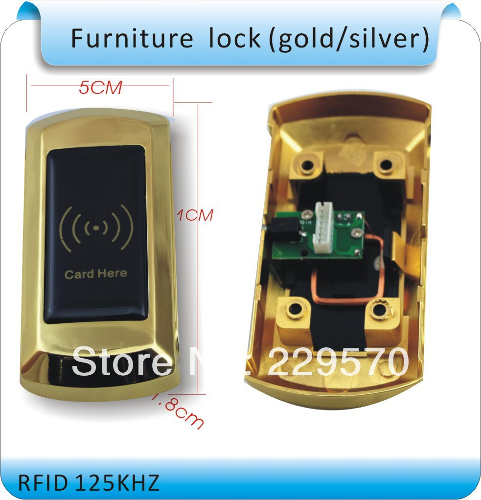 Long-term production of high quality storage ZOCO Cupboard lock electronic lock, round, +1 bracelet card