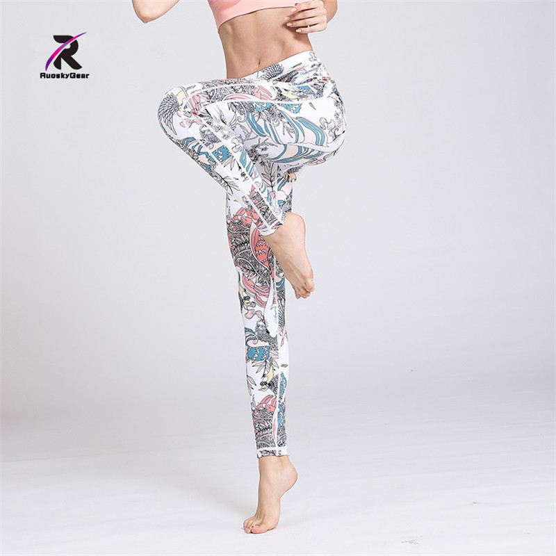 2018 New Yoga Pants Womens Tights Running Leggings Sports Pants Female Women Gym Running Mesh Workout Pant Fitness Accept Paypal