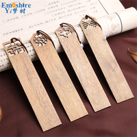 High Grade Solid Wood Bookmarks Set Chinese Style Retro Vintage Book Marks For Business Gift Top