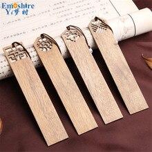 Wysokiej jakości zakładki z litego drewna zestaw w stylu chińskim Retro Vintage zakładki do książek na prezent biznesowy najwyższej jakości artykuły papiernicze M003