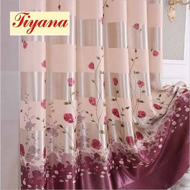 Luxury Curtains European Printed Blackout Tight Curtains for Living ...