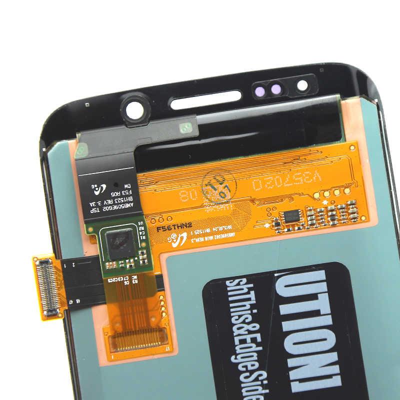 100% サムスン S6 エッジ液晶ディスプレイタッチスクリーンデジタイザ用 G925 G925F G925A スクリーン交換