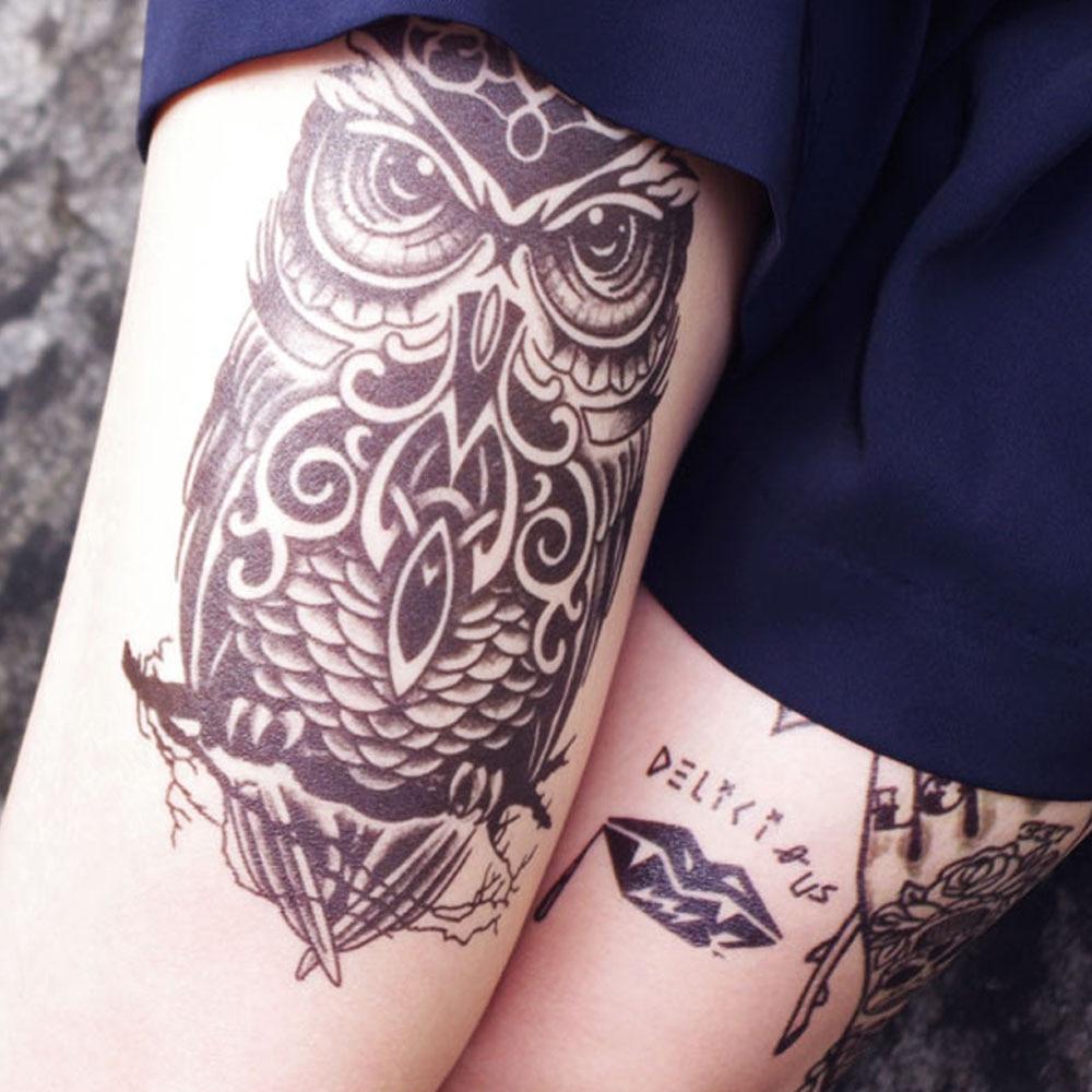 Yeeech Temporary Tattoos Sticker For Women Men Sexy Owl Animal