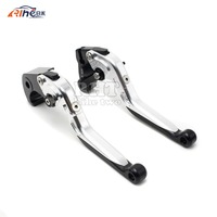 Motorcycle Aluminum Brake Clutch Leverssilver Color Cnc Motorbike Brake Clutch Lever FOR SUZUKI GSF 600 Bandit