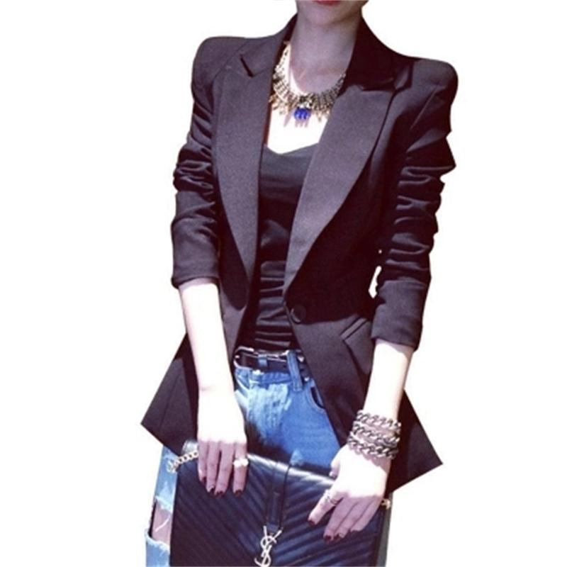 Women Blazers Small suit jacket female long professional wear Spring and summer suit new chic suit jacket size XS-3XL