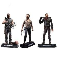 The Walking Dead Rick Negan Daril Carol  Walker Action Figures Doll For Kids Christmas Gifts Toy