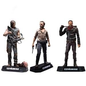 Image 1 - Walking Dead Rick Negan Daril Carol yürüteç aksiyon figürleri bebek çocuklar için noel hediyeleri oyuncak