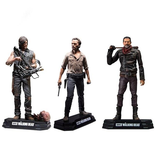 Walking Dead Rick Negan Daril Carol yürüteç aksiyon figürleri bebek çocuklar için noel hediyeleri oyuncak