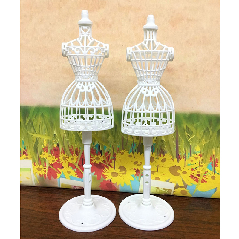 Display Gown Dress Clothes Rack Doll Mannequin Hollow Model Holder Stand Women Dolls