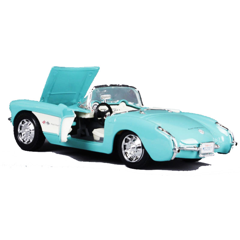 1:24 Chevrolet 1957 Classic Car Metal Model Vintage Automobile Toy Vehicle High Simulation Diecast Decoration or Home Collection