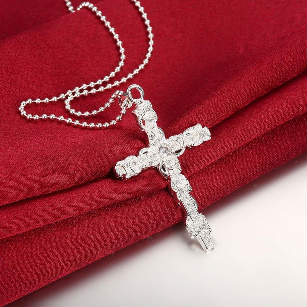 6.2 * 3.3 սմ 925 արծաթյա վզնոց շղթա - Նուրբ զարդեր - Լուսանկար 4
