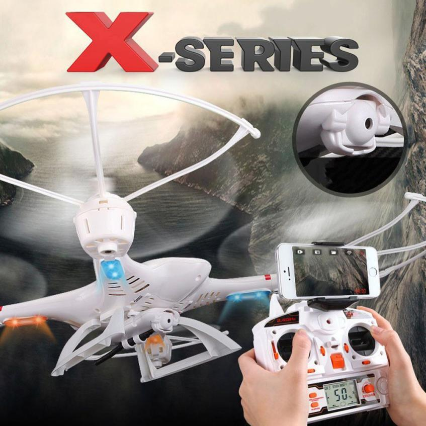 ФОТО Headless Drone MJX X400 2.4G 6-axis 4CH RC Quadcopter Drone RC Helicopter With C4005 FPV Camera Drone with camera HD