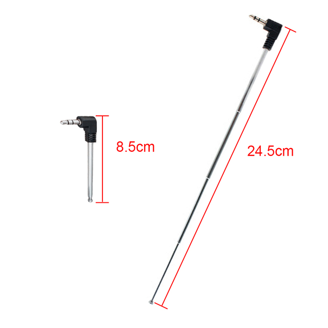 Hot Sale  3.5mm FM Radio Antenna Retractable Aerial for Auto Car Mobile Phone NOYOKERE