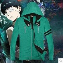 Tokio ghouls night kaneziki anime sudaderas con capucha de algodón COS chaqueta hombres y mujeres sudadera amante cosplay juego de los deportes