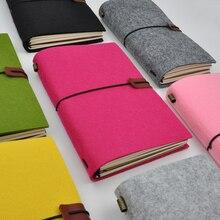 Maotu vintage feltro tecido bala diário caderno do viajante diário sketchbook planejador artesanal presente criativo