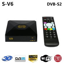 S-V6 DVB-S2 Satellite Receiver Support Web TV Xtream IPTV Biss Key Youtube CCCAM NEWCAM DLNA HDMI AV output USB WiFi S V6 Box