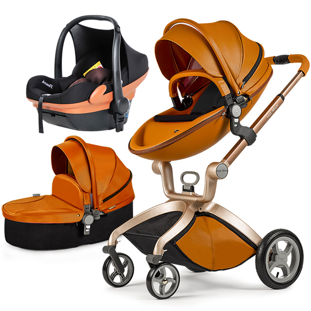 Hot Mum baby stroller EU Free Ship luxury 3-in-1 baby stroller with comfortable car seat 6 gift baby umbrella carts