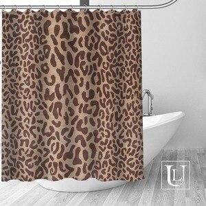 Image 1 - Big Sale New Custom Leopard Modern Shower Curtain with Hooks bathroom Waterproof Polyester Fabric