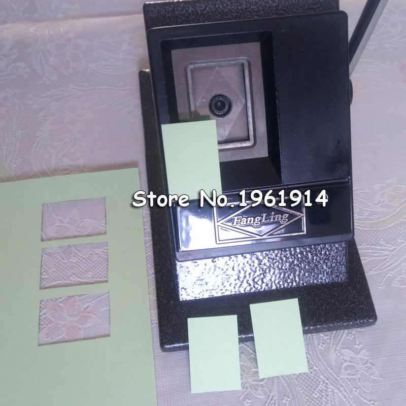 NEW Heavy Duty Manual 32x40mm Photo Paper Cutter Multi Sheets Stand Paper Graphic Punch Die Cutter