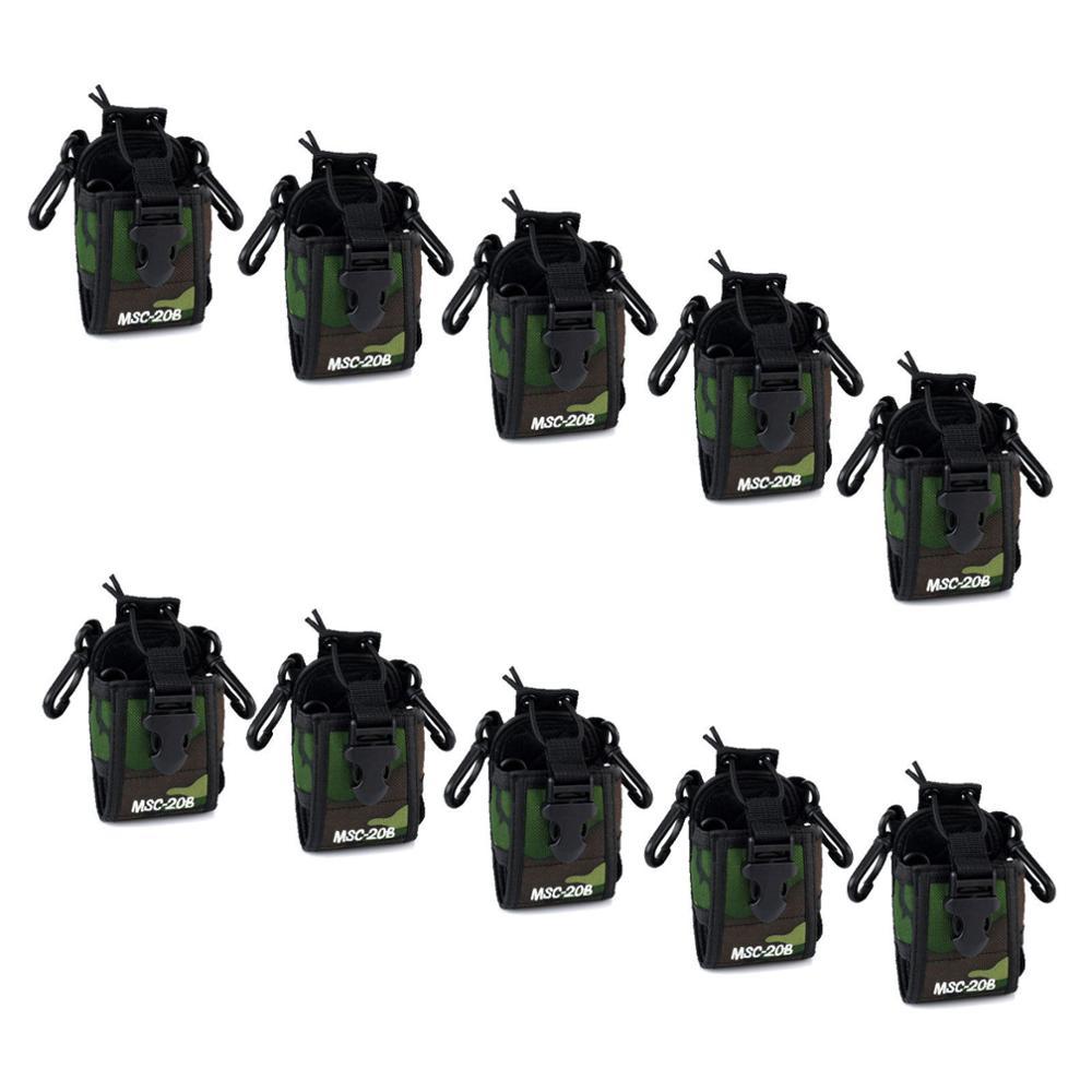 10 Pcs Camo Multifunction Radio Case/Holder For Kenwood/Motorola Baofeng BF-UV5R