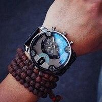 Moda JIS Ray De Alta Qualidade Azul Preto Marrom Shell Homens de Aço Pulseira de Couro Masculino Relógio de Quartzo Relógios de Pulso Relogio masculino