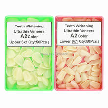 100 Pcs Dental Materials Whitening Teeth Thin Composite Resin Veneers Upper Anterior A2 Shade Dentist Products Free Shipping new toothguide dental 16 colors contrast bleached shade guide resin teeth colorimetric for teeth whitening comparison