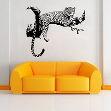 T390 The New Creative Personality Leopard Living Room Bedroom Wall Stickers  Decorative Stickers Environmental Removable Sticker