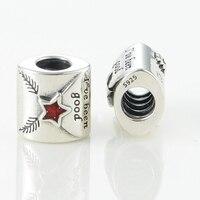 100% Sterling Silver Screw Beads Serve Encantos Da Europa Pulseiras carta para o Papai Noel Mulheres DIY Jóias de Prata Por Atacado