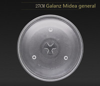 Microwave Parts Microwave Oven Glass Plate For Galanz Midea Etc 27cm Microwave Oven Parts Cover For