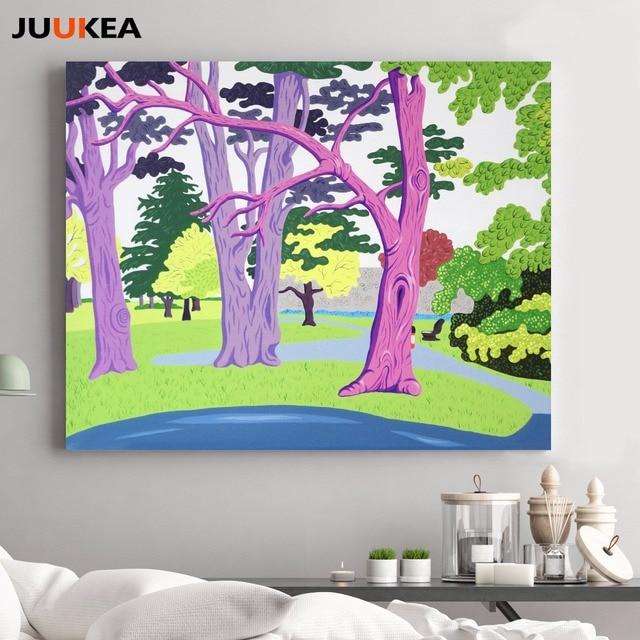 Künstler David Hockney Wald Holz Grün Gras Dekorative Wandmalerei Drucke  Auf Leinwand, Wandbilder Für Kinderzimmer
