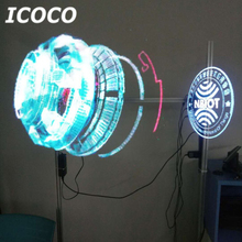 ICOCO 65cm LED Holographic Projector Portable Hologram Player 3D Holographic Dispaly Fan Unique Hologram Projector Drop Shipping alloyseed 3d led 4gb hologram projector holographic dispaly fan unique hologram projector player drop shipping wholesale