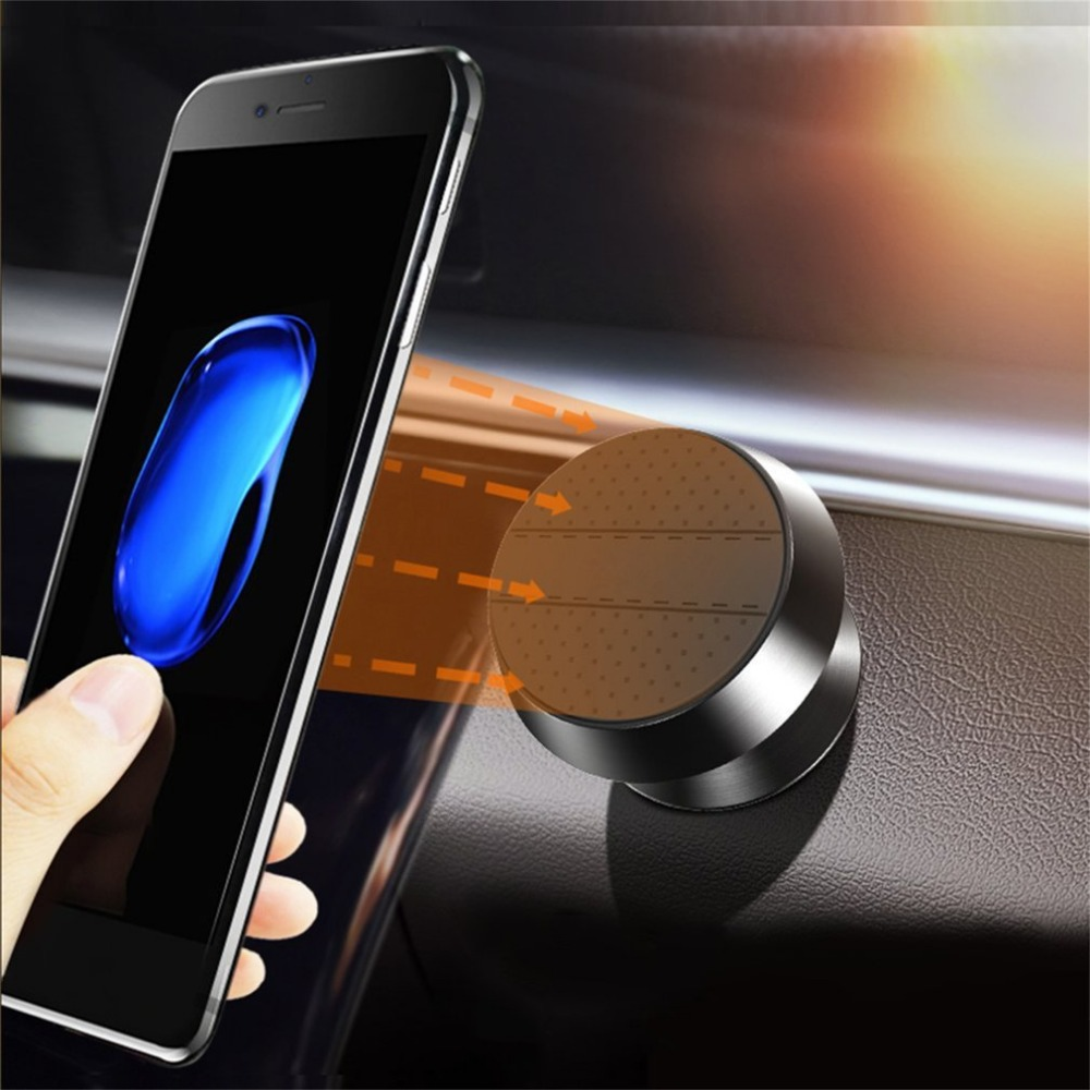 Universal Magnetic Car Phone Holder For iPhone X 7 6 Samsung S9 S8 360 Rotation GPS Smar ...