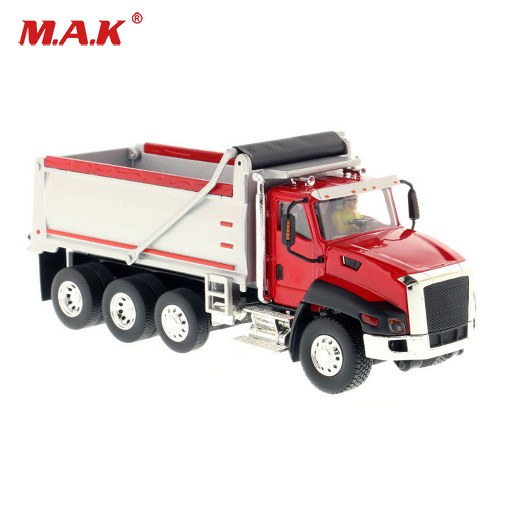 Toys for child 1/50 Scale Diecast Alloy CT660 Dump Truck in Red Construction truck Model Engineering Vehicles Model Collection rare xcmg xde360 super large mine dump truck 1 50 scale diecast model